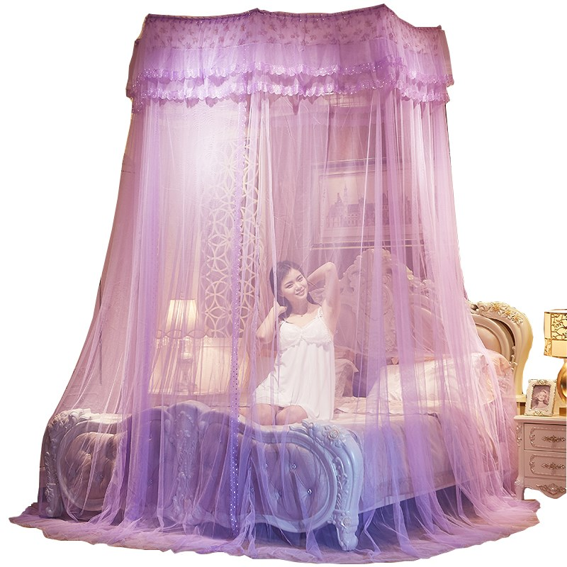 Romantic Hung Dome Mosquito Net For Double Bed Hanging Anti Insert Bed Mesh Tent Adults Kids