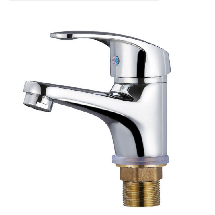 Excellent Quality Modern Bathroom Basin Sink Mixer Tap Brass Chrome Faucet Single Handle Hot