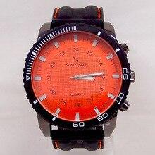Livraison gratuite sport de mode silicone quartz montre hommes v6 marque heures big face montre-bracelet c6428