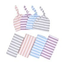 New Cotton Baby Blankets Printed Newborn Infant Baby Boy Girl Sleeping Swaddle Muslin Wrap +Hat 2PCS цена