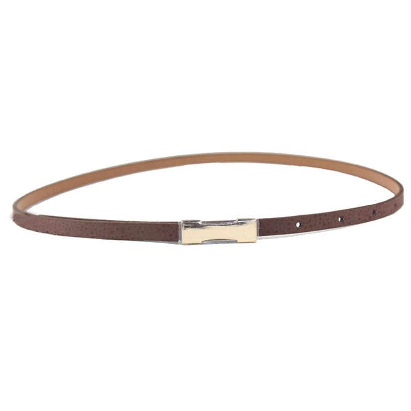 Hot Marking 1pc New Women Lady Fashion Metal Fhin Gold Buckle Skinny PU Leather Waistband Belt WJul21 Drop Shipping
