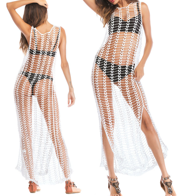 Ladies Bathing Swimsuits Bikini Hollow Wrap Pareo Cover Up Beach Dress YS-BUY 2