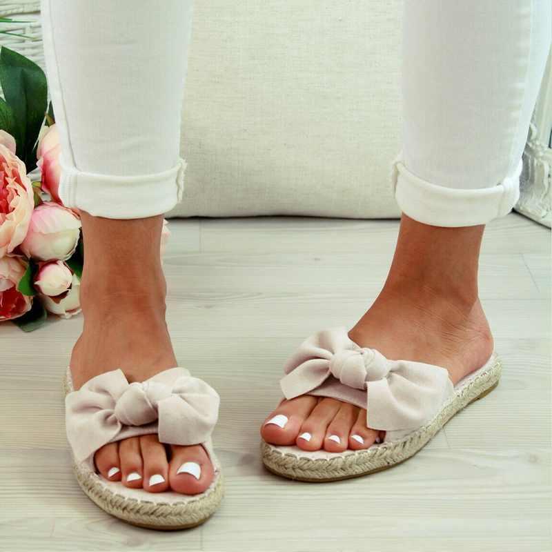 Puimentiua Frauen Sandalen Bogen Sommer Sandalen Slipper Frauen Sommer Strand Outdoor Schuhe Weibliche Mode Blumen Schuhe Drop Verschiffen