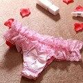 Горячая! новое Прибытие Мода Sexy Оборками Прекрасный Нижнее Белье Женский Дизайн Высокое Качество Бесшовные Хлопок Женщины Трусы Сплошной Цвет