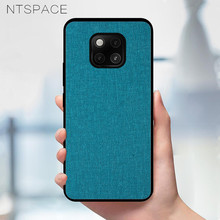 NTSPACE Fabric PU Leather Case For Huawei Mate 20 Pro Retro Soft Silicone Cloth Shockproof Phone 20X Cover