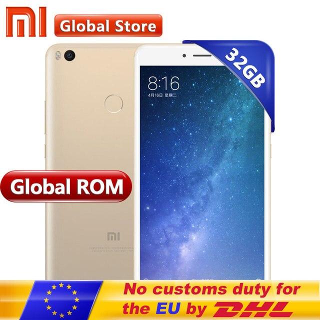 Оригинал Сяо Mi Max 2 Max2 4 ГБ 32 ГБ Snapdragon S625 Octa Core мобильный телефон 6.44 дюймов 1920*1080 5300 мАч 12.0MP + 5.0MP