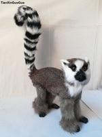 about 32x22cm simulation lemur hard model,polyethylene&furs lemur prop,home decoration toy gift w1000