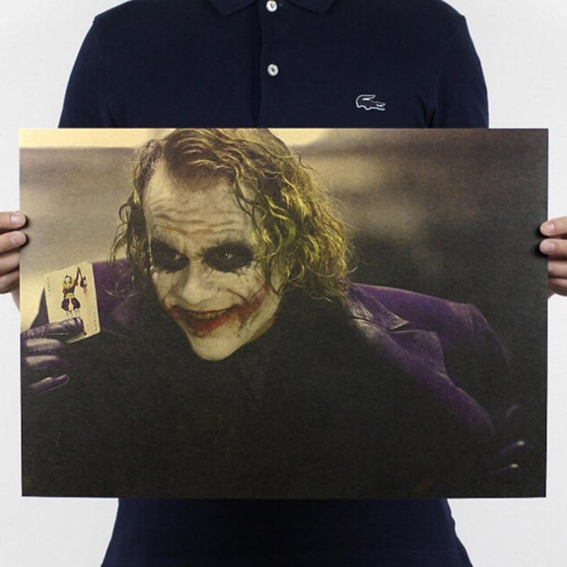 The Dark Knight Rises Heath Ledger Movie Joker Home Decor Dark Knight Classic Movie Kraft Poster