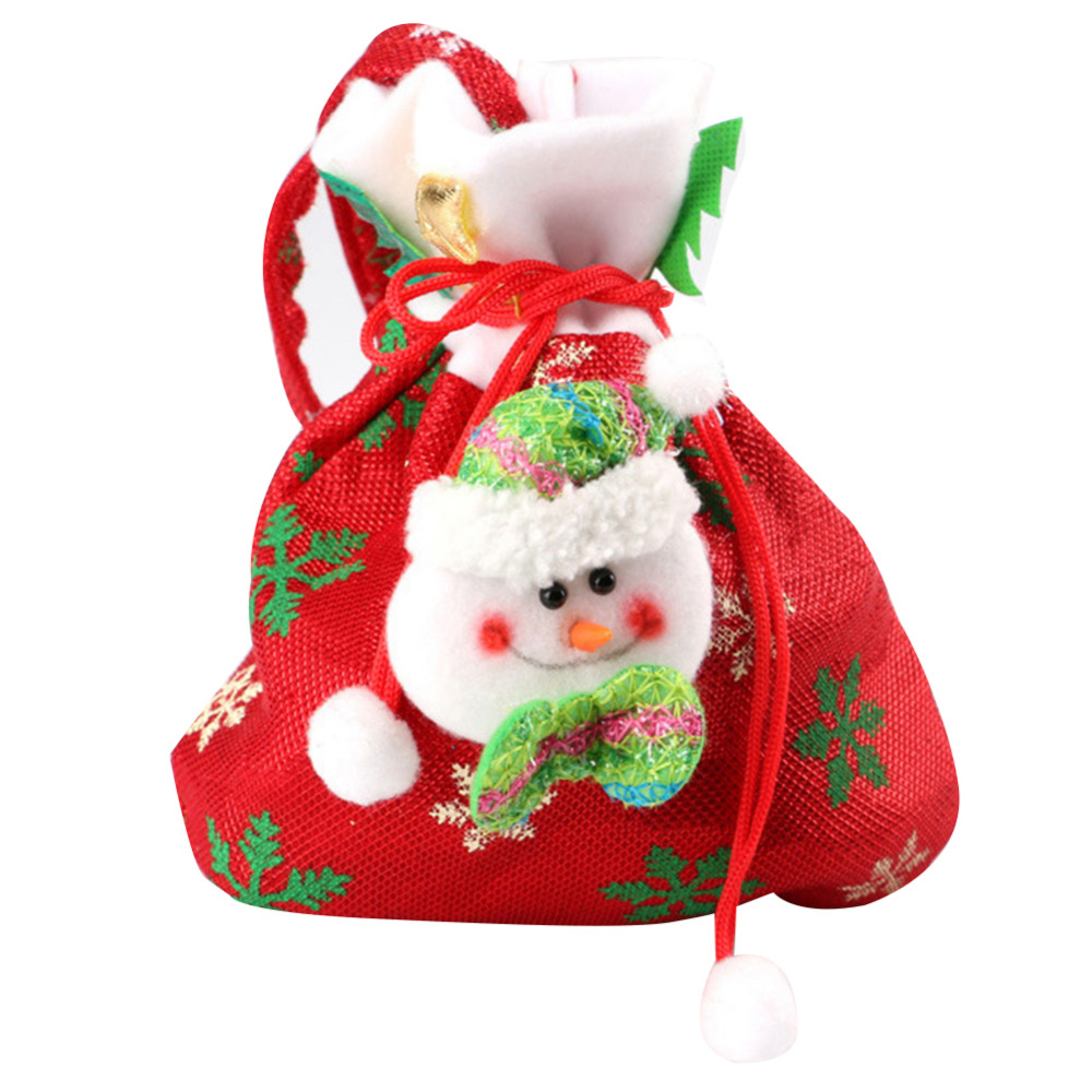Christmas Gift Bags 20x24cm Candy Wine Bottle Bag New Year Santa Claus Tree ClothGift Bag Wedding Candy Sack Xmas Party Supplies