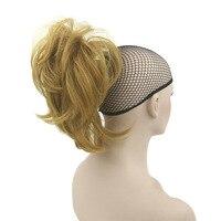Soloowigs Doğal Dalga Ponytails Yüksek Sıcaklık Fiber Yapay Hairpieces Uzun Pençe At Kuyrukları 35 cm/14 inç Kadınlar için