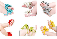 BX97 70pair lot Toddler Baby Barefoot Socks Sandals Shoes Children Rose Foot Ornaments Infant Flower Socks