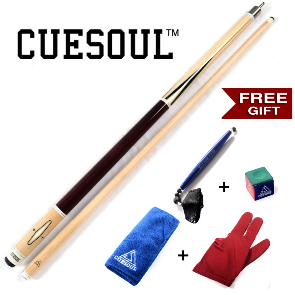 CUESOUL Free Postage Pool Cue Stick With Free Gift!!!Free Cue Towel+Billiard Gloves+Chalk Pen+Billiard Chalk teana fog light 2pcs set led sylphy daytime light free ship livina fog light