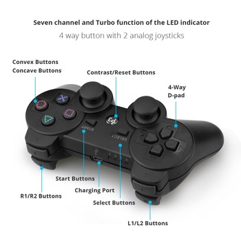 Gamepad Wireless Bluetooth Joystick For PS3 Controller Wireless Console For Playstation 3 Game Pad Joypad Games Accessories 6