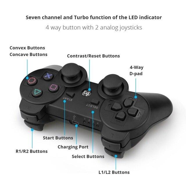 Gamepad Senza Fili Bluetooth Joystick Per PS3 Controller Console Senza Fili Per Playstation 3 Gioco Pad Joypad Giochi Accessori 6