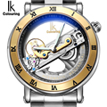 IK Mecánico Automático Relojes Hombres Marca de Lujo de Oro Rosa Caso Esqueleto Transparente de Acero Inoxidable Reloj relogios