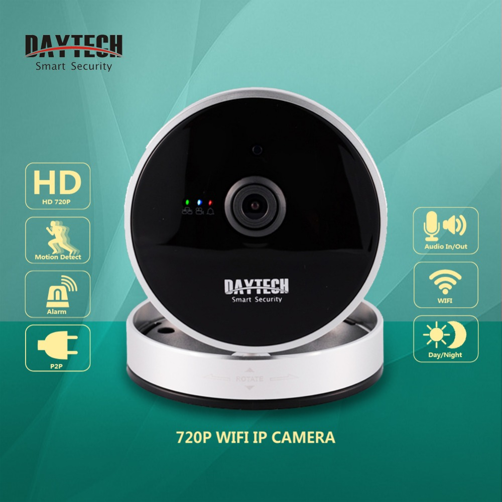 bilder für Daytech Wifi Kamera Indoor Mini Wireless 720 P IP Kamera Nachtsicht H.264 P2P WiFi IR Sicherheit CCTV Monitor Audio