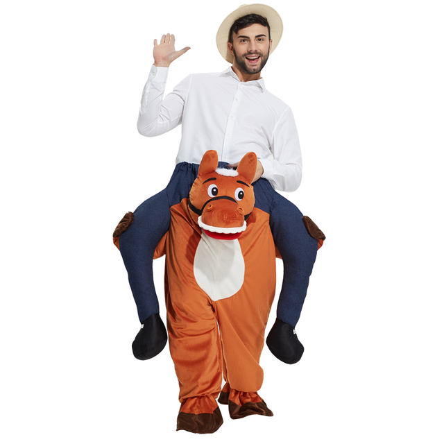Horror costumes Mens Adult Ride On Me Mascot Fancy Dress Costume Piggy Back Stag Do Outfit  sc 1 st  AliExpress.com & Horror costumes Mens Adult Ride On Me Mascot Fancy Dress Costume ...