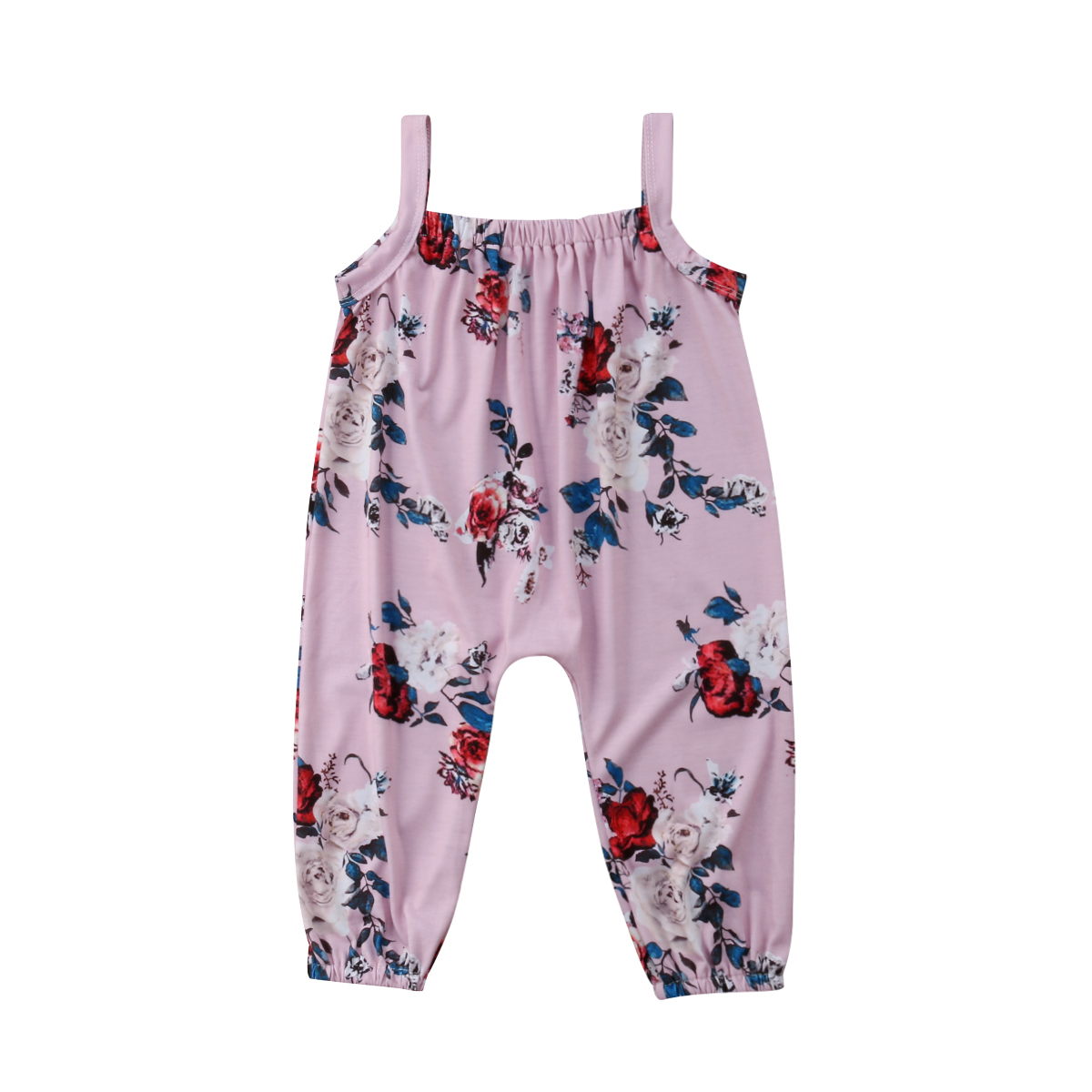 Newborn Infant Baby Girl Romper Playsuit Jumpsuit Outfits Cotton Sunsuit Sleeveless Floral Clothes Toddle Girl 0-24M