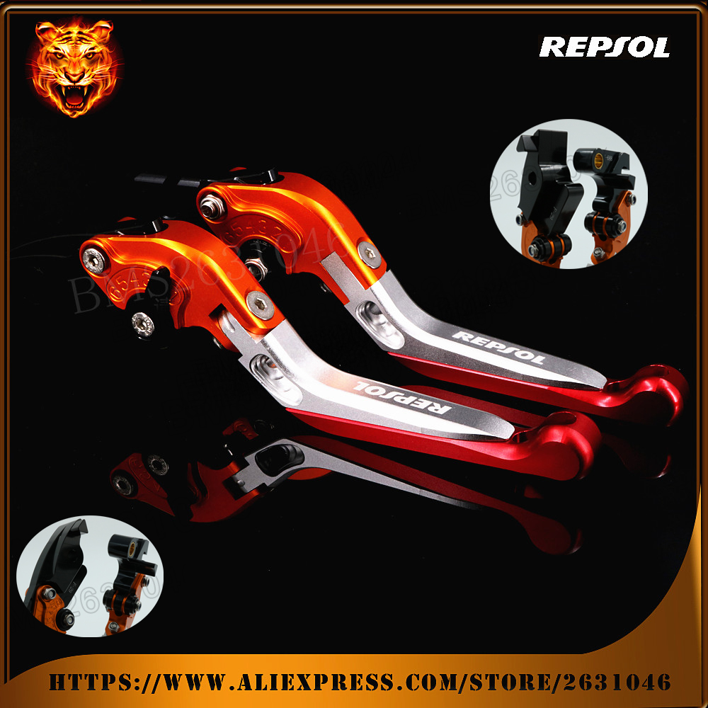 Motorcycle Adjustable Folding Extendable Brake Clutch Levers REPSOL For HONDA CBR600RR 2003 2004 2005 2006 CBR954RR 2002 2003 free shipping 7 anime super sonico with macaroon tower boxed 17cm pvc action figure collection model doll toy gift