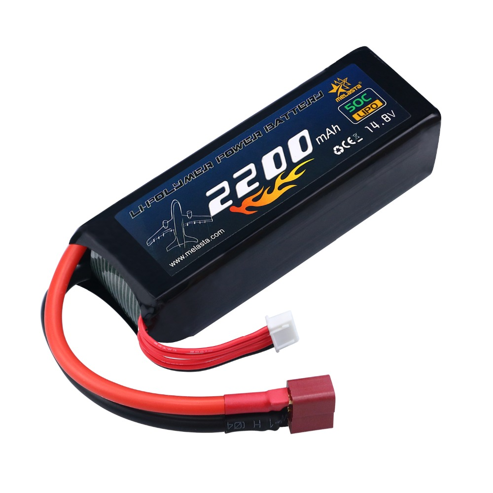 все цены на MELASTA 14.8V 2200mAh 50C 4S RC LiPo Battery Pack with Deans-T Plug for RC Airplane Helicopter Boat RC car онлайн