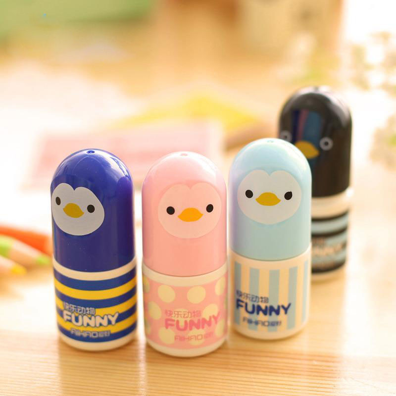Korean Stationery Wholesale Cartoon Chick Cute Face Correction Fluid Correction Fluid Correction Tape H0102