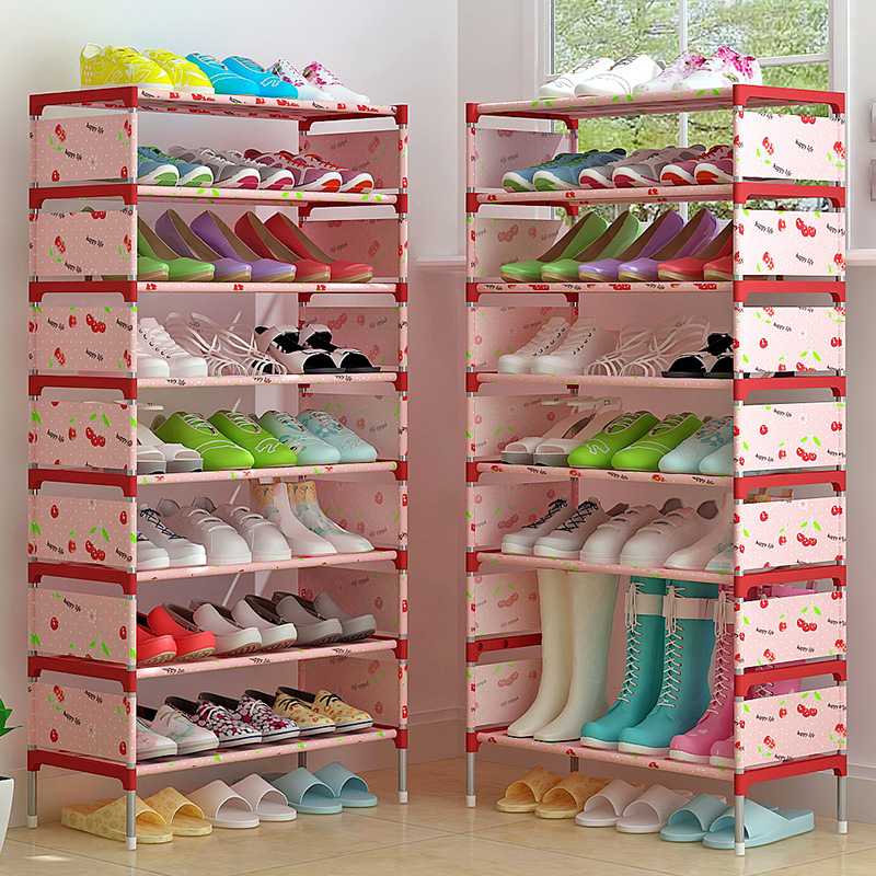 Modern minimalist home shoe organizer non-woven storage free assembly stand space saving shoes cabinet closet 9-storey shoe rack 43 3 inch 7 layer 9 grid non woven fabrics large shoe rack organizer removable shoe storage for home furniture shoe cabinet