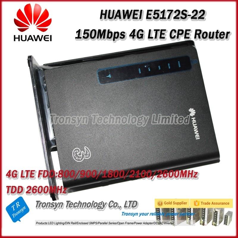 Wholesale Original Unlock 150Mbps HUAWEI E5172s-22 4G LTE CPE Wireless Router Support FDD B1 B3 B7 B8 B20 TDD 38 free shipping original unlock 150mbps huawei e5575s 210 protable 4g lte wifi router support lte fdd b3 b7 tdd b38