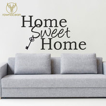Home Sweet With Hanging Key Wall Sticker Art Decoration Living Room Vinyl Removable Quote Decal Interior Mural 3Q05