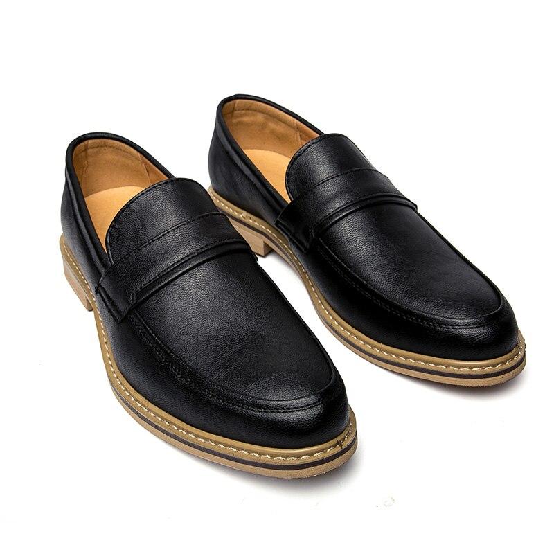 Confortable Slip En De Mode Sur Casual Black Luxe Main K4 Male brown Hommes Plein khaki Air Travail À Robe Chaussures Mocassins Pour Appartements Faits La awUx0qC