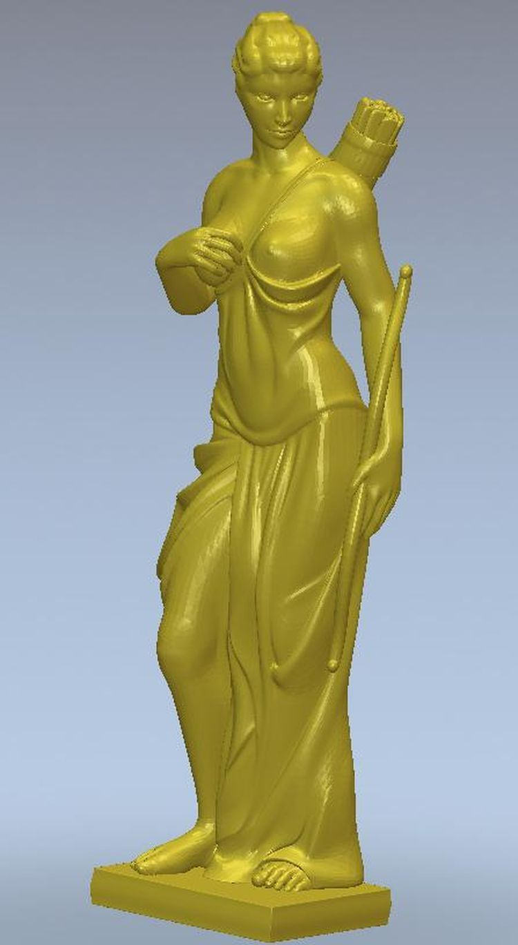 3d model relief  for cnc or 3D printers in STL file format  Aphrodite maicadomnului 3d model relief figure stl format religion 3d model relief for cnc in stl file format