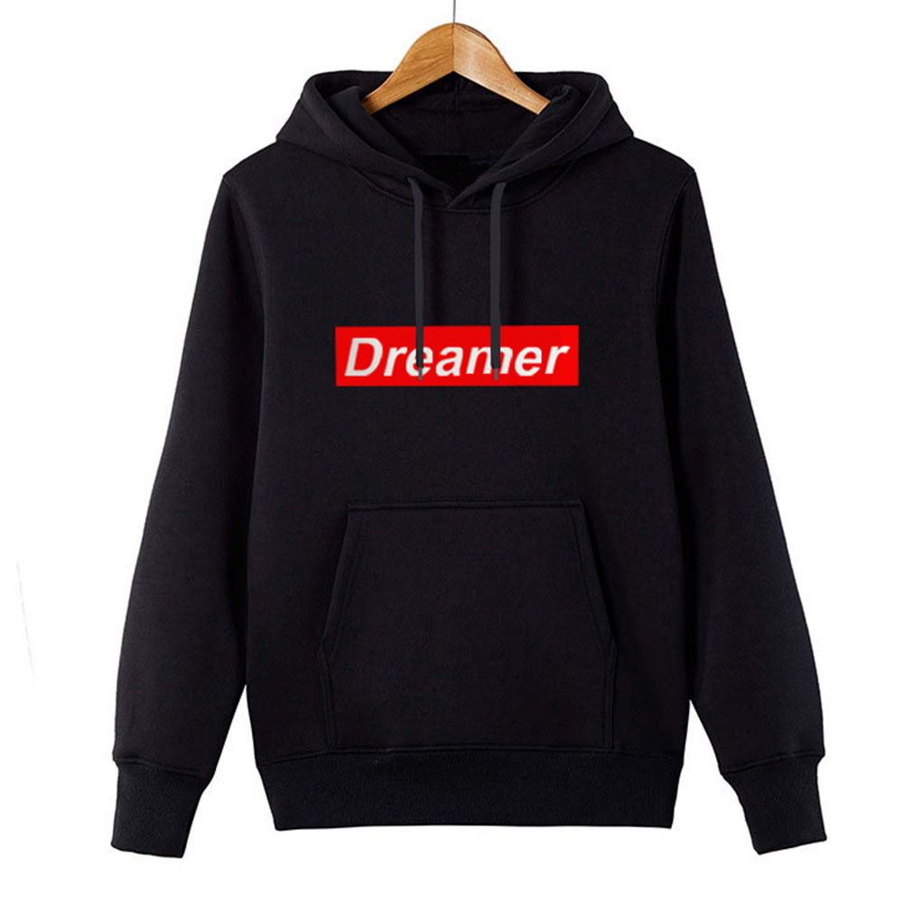 New Autumn Hooeded Sweatshirt Men Women Long Sleeve Pullover Streetwear Fleece Hoodies Lovers Unisex Tops 2 Colors