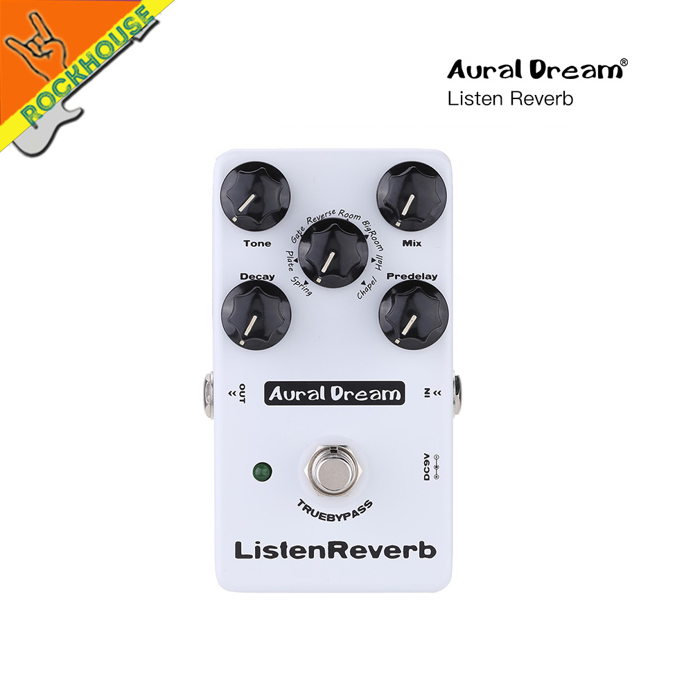 New Digital Reverb Guitar Effects Pedal 8 Reverberation Room Spring Plate Gate Hall Church Reverb .etc True Bypass Free Shipping mooer wood verb reverb digital effects acoustic guitar effect pedal tiny size true bypass mrv3