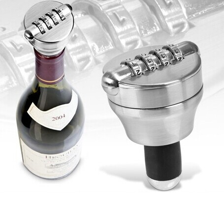 Zinc Alloy Bottle Password Lock Combination Lock Wine Stopper Vacuum Plug Device Preservation For Furniture Hardware