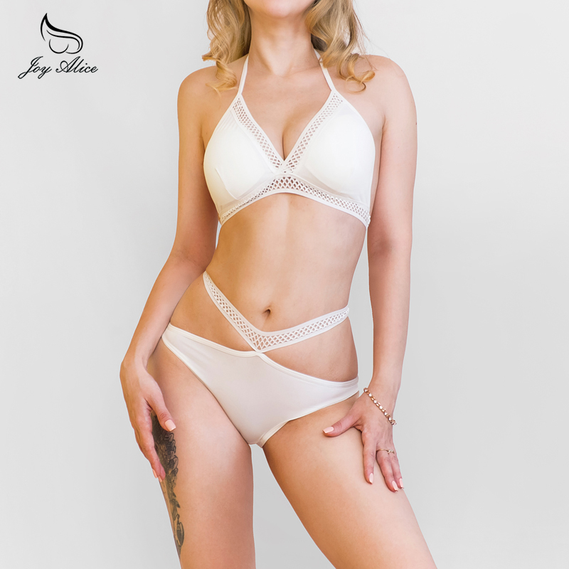Brand 2018 New Arrival wire free bra set comfort thin cup tieback underwear women set bra and panties womens intimates lingerie