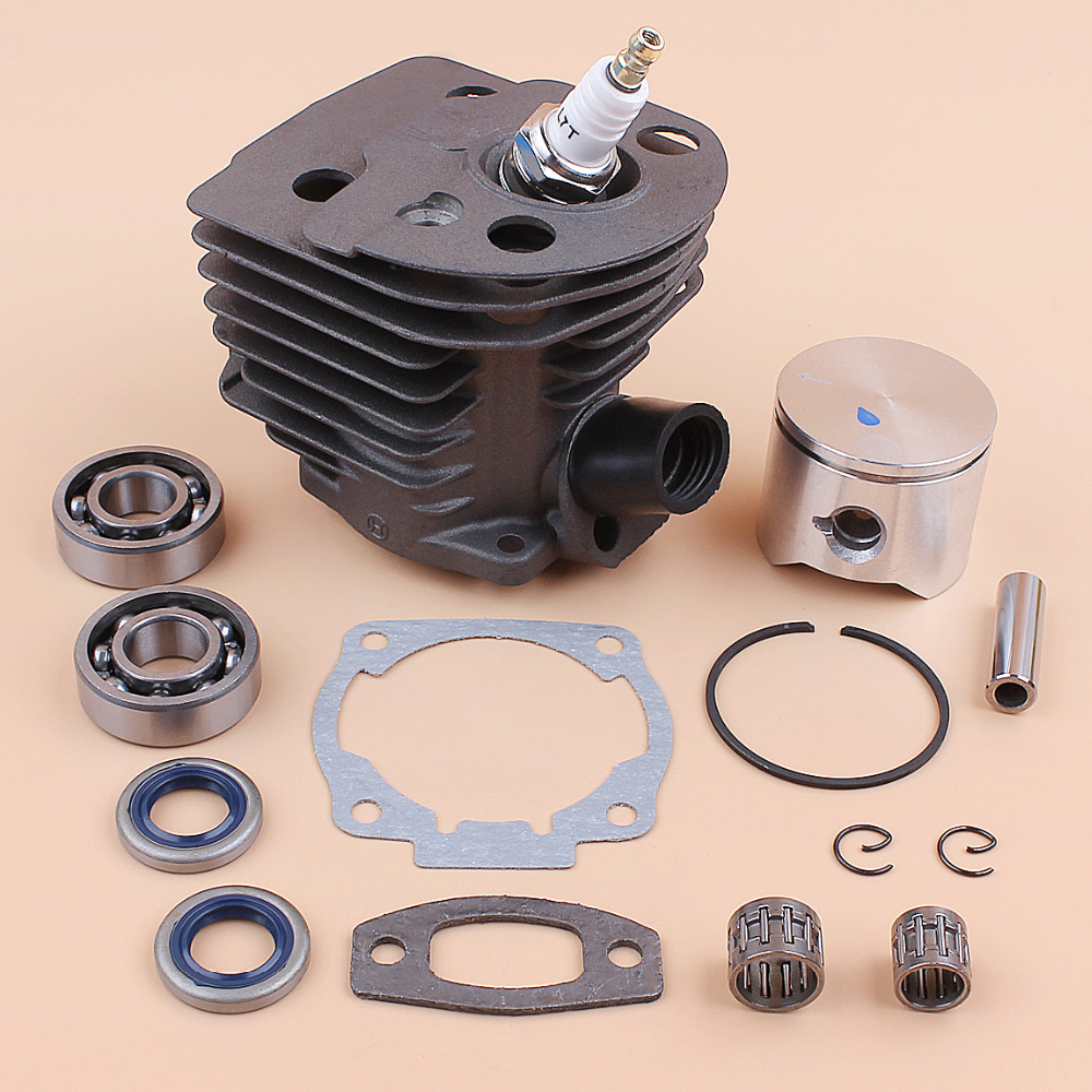 45MM Cylinder Piston Crank Bearing Oil Seal Engine Motor Kit Fit HUSQVARNA 55 51 50 Chainsaw Rebuild Parts OEM 503168301