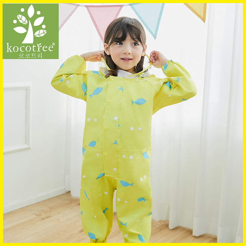 1 6 Years Old Children Rompers Kids Waterproof Jumpsuits Boys Girls One Piece Hooded Sets Colourful