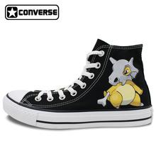 Pokemon Cubone Design Converse All Star Girls Boys Shoes Men Women Sneakers Hand Painted Shoes Skateboarding Shoes Cosplay