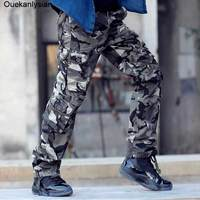 Real Photo Outdoor Mens Camouflage Pants Fashion Multi Pockets Military Army Pants Jogging Athletic Hiking Pants