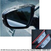 Per Toyota Corolla Altis 2008 2009 2010 2011 2012 2013 Retrovisore posteriore Specchio di Vetro Cornice Cornice Scudo Pioggia Sun Visor ombra Sopracciglio
