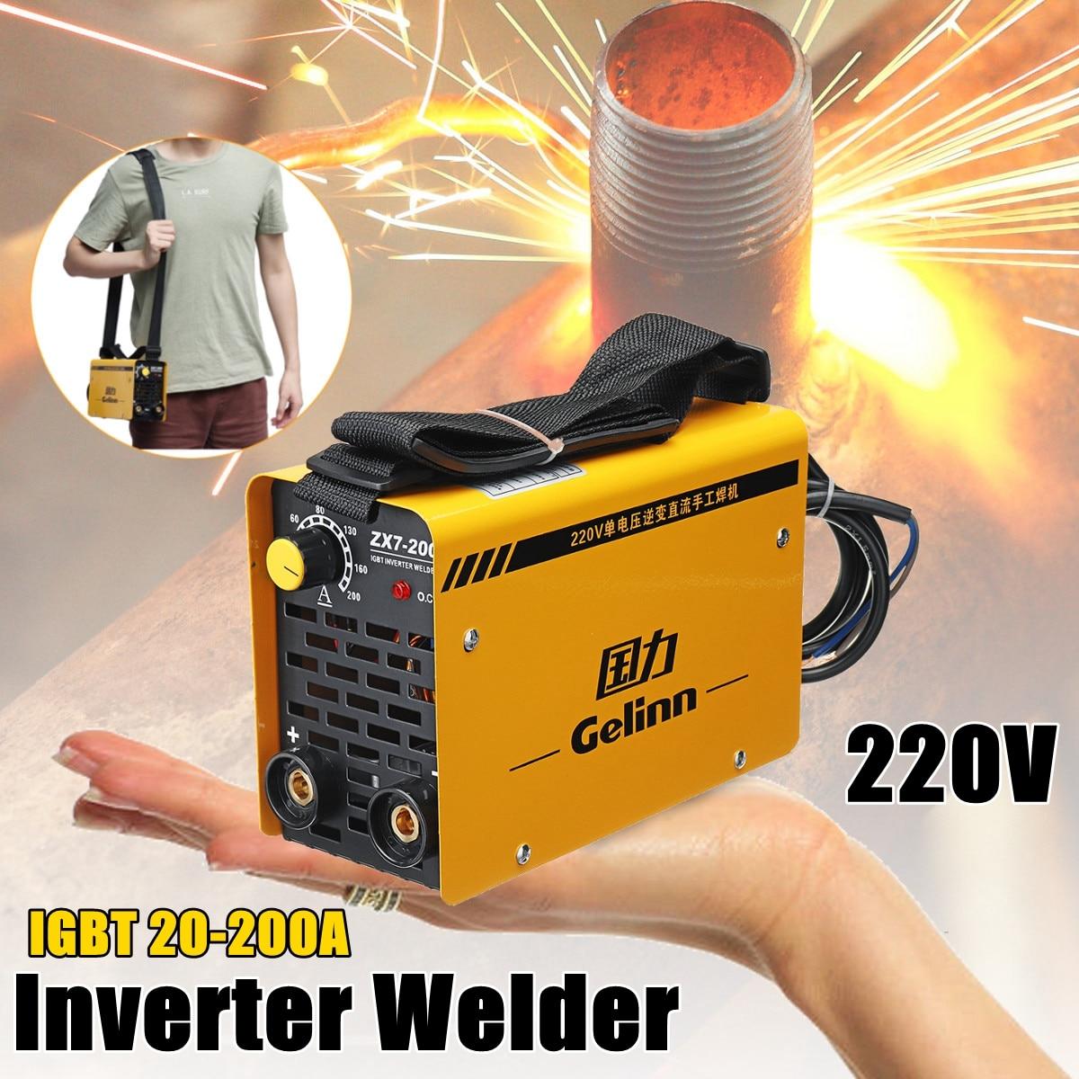 IGBT 20-200A 220 В инвертор электрической дуги сварочный аппарат MMA W Старший для сварки рабочей и электрические рабочие ZX7-200