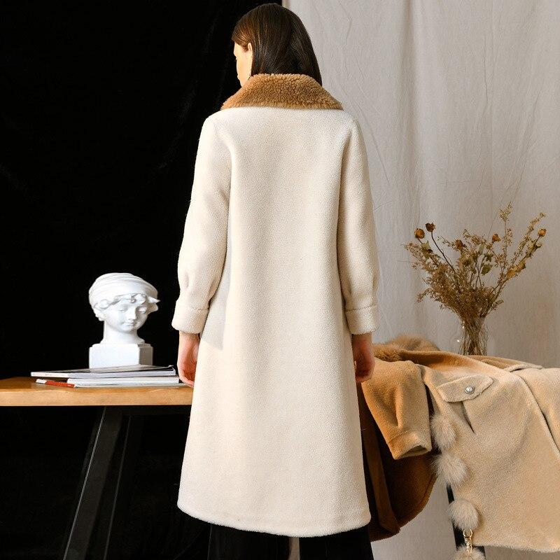 Réchauffement Nouvelles rasé De Long Froid Moutons Porter Automne Manteau Épaississement Veste Hiver Laine Femmes 2019 Pardessus preuve PSFFvTW