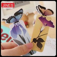 Красивая 50 шт/лот 3d Закладка бабочка для дня рождения рождественский