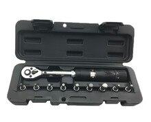 """1/4 """"DR 2-14Nm bici torque wrench set herramientas de reparación de Bicicletas kit de trinquete machanical manual de llave de torque llave de torsión"""