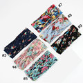 5pcs Vintage Hair Styling Tools Braider Wide Stretch Floral Hair Band Yoga Elastic Turban Twisted Knotted Hairdressing Accessory