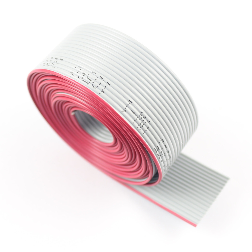 1 Meter 0.635mm Pitch 40 Pin Wire Gray Flat Ribbon Cable For 1.27mm FC Connector
