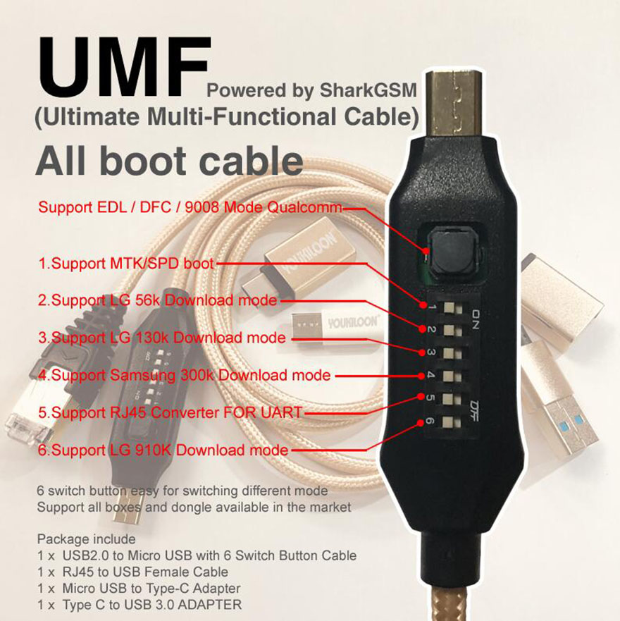 original new UMF cable ( Ultimate Multi-Functional Cable ) All boot cable TYPE C Micro USB RJ45 Adapter All in One(China)