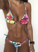 print bikinis 2019 new women swimsuit beach bathing suit sexy brazilian bikini set Floral swimwear