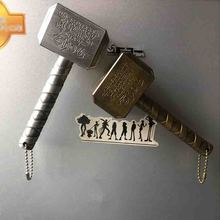Marvel Raytheon Magnet Beer Bottle Openers Hammer Of Thor Shaped Opener With The Avengers