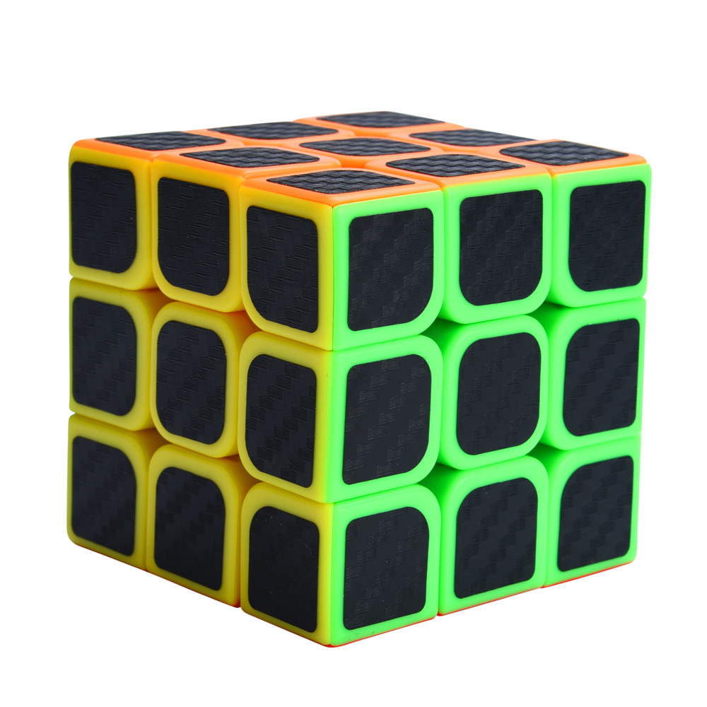 3x3x3 Speed Cube Carbon Fiber Sticker for Smooth Magic Cube Puzzles  Hobby Funny KID Gift Drop Shipping3x3x3 Speed Cube Carbon Fiber Sticker for Smooth Magic Cube Puzzles  Hobby Funny KID Gift Drop Shipping
