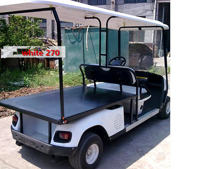 The factory custom Four wheel electric flat car truck delivery van on gem food truck cart, delivery cart, van pool, pushing grocery cart, crazy cart, street cart,